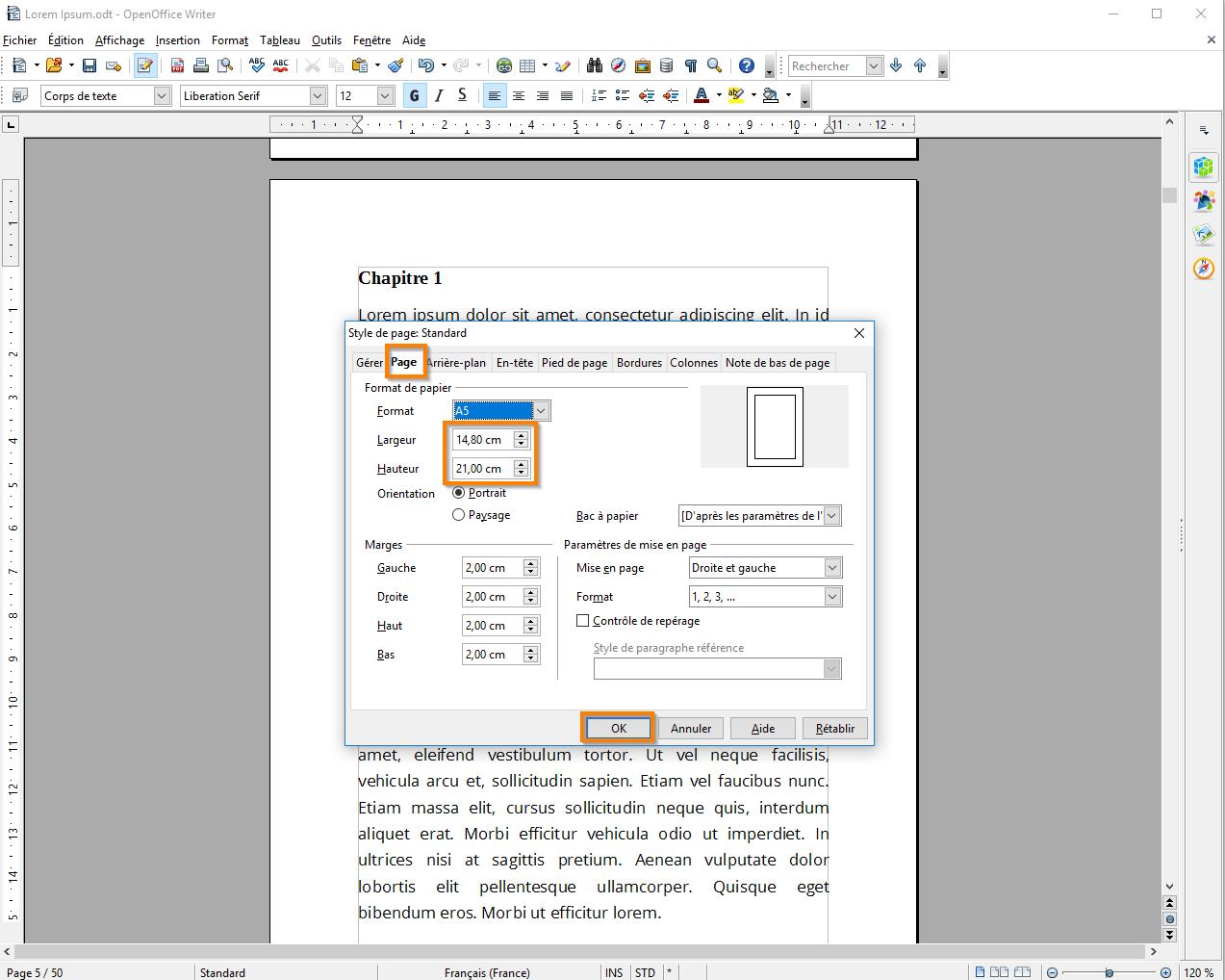 Centre d'apprentissage : Definir des marges dans Open officeCentre d'apprentissage : Definir des marges dans Open office