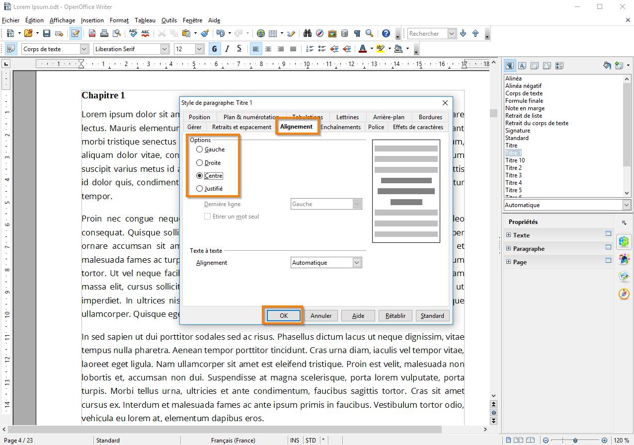 Créer une table des matières dans Open Office