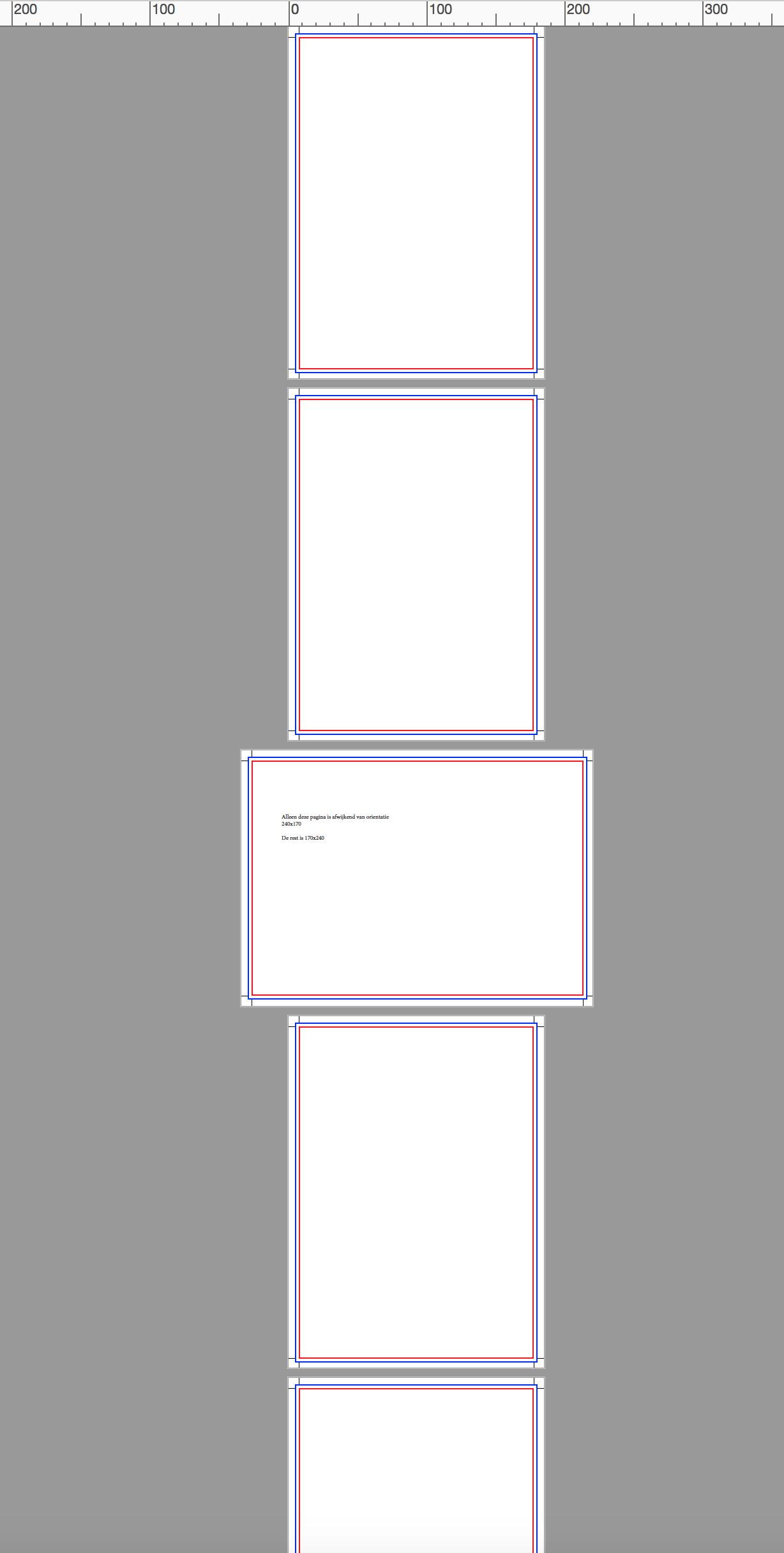 pagina formaat verschillend in PDF