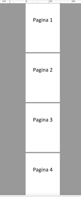 pagina onder elkaar aangeleverd in PDF